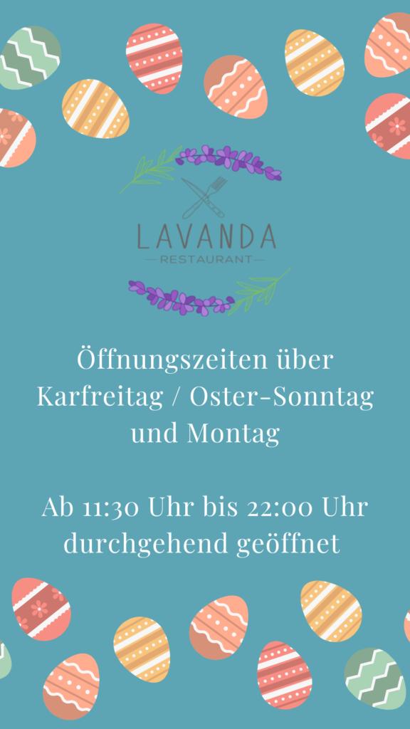 Öffnungszeiten Karfreitag / Ostern