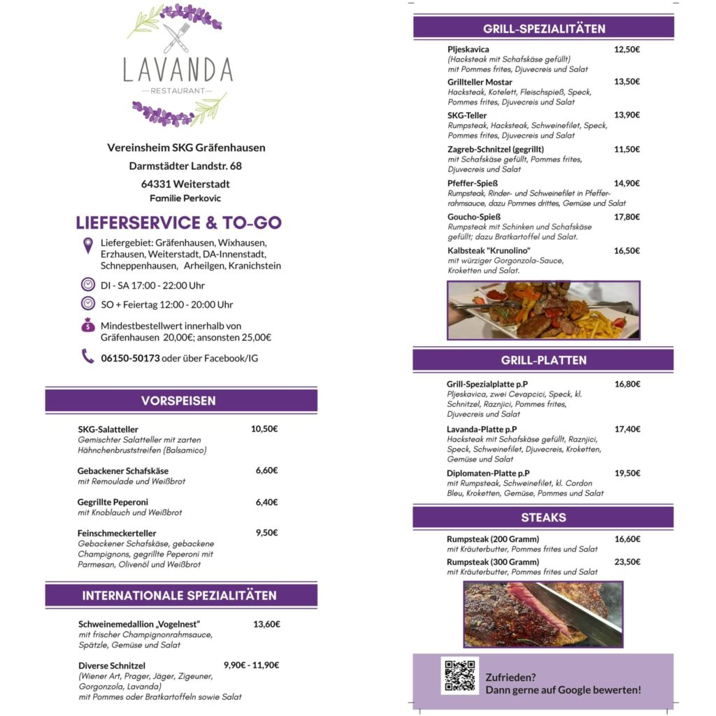 LIEFERSERVICE & TO-GO